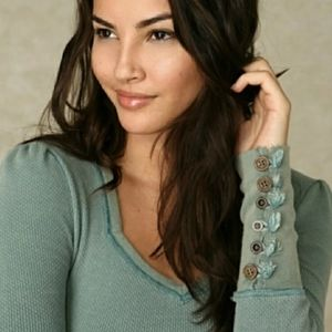 Free People Sweetheart Button Cuff Thermal